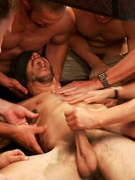 Tickle Torment A Ripped Stud in a Public Bar