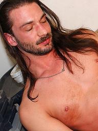 Rocker With Pierced Veiny Cock