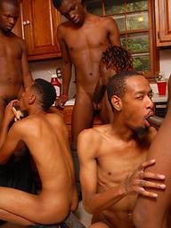 Ebony stud Thugzilla in this orgy