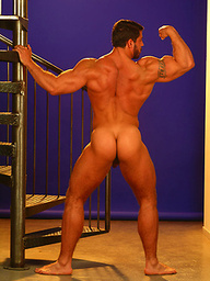 Carlo Masi flaunts his muscles as this hairy bodybuilder poses nude