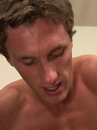 Buff studs Topher and Mitch grunt loud as they have powerful anal sex