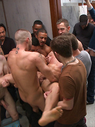 Connor Patricks gets tied up and gang gay fucked with his mouth and ass abused