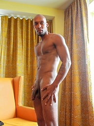 Ramsees has a throbbing black cock to show us as this stud strips and jerks off