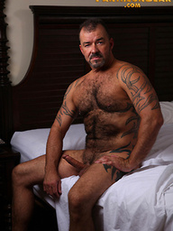 Big hairy man Steve King shows his cock