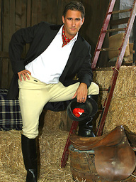 Horse riding gets this hot gay rider so turned on he masturbates in the stables