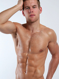 Rugby stud Jon Saunders shows off his new mesh jock-strap!