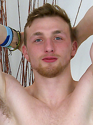 Hunky Straight Personal Trainer Sam Shows Off His Uncut Cock and Hole