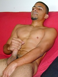 Straight latin twink Victor shows uncut dick