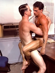 Dick Masters and Rick Coleman anal sex in office