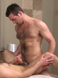 Hairy studs Jamison and Stone fuck