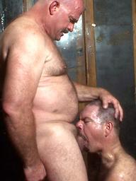 Hairy daddies Clint Taylor & T-Rexxx blowjob