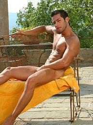 Hot italian stud outdoors