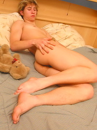 Blond perfect srtraight teen boy