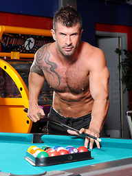 Two hunks play pool then fuck!
