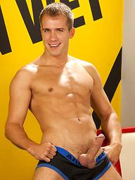 Brandon Lewis posing naked