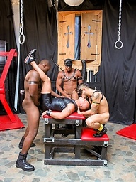 Nubius, Luc Bonay, Draven Torres and Aron Ridge - interracial foursome in a cave