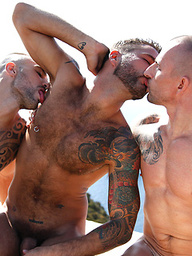 Jonathan Agassi, Will Helm, and Kriss Aston's Threesome in Ibiza