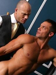 Seductive and authoritative hunk enjoys anal