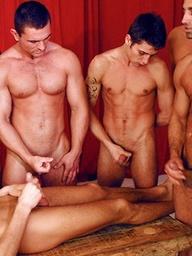 Eght hot euro boys in a gay orgy