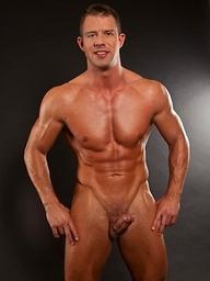 Samuel Star, sporting a chiseled muscular body and a nice big cock, flexes his guns and works his pole just for you.