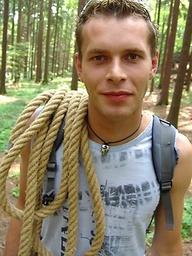 Czech twink posing naked outdoors