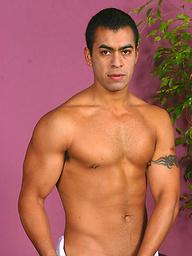 Latino hunk Alfonso Rosas  shows his cock