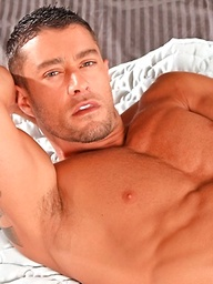 Hot muscle dude Cody Cummings fleshjack play
