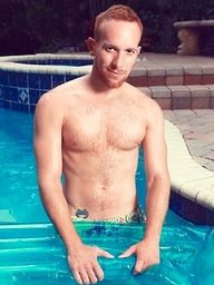 Steven Ponce posing by the pool