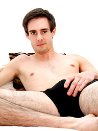 "Ball-tugging Mark Green kicks back for an interview before jerking his 8"" uncut hard one!"