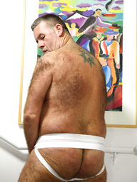 Patrick Montana shows his hairy mature cock