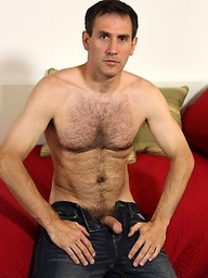 Mature hunk Craig Daniels shows hius hot hairy body and fat cock