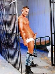 Prisoner Giuseppe Pardi gets naked