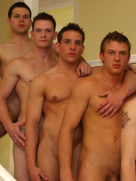 Adam, Christian Wilde, Dylan McLovin, Samuel and Taylor Aims cumshot orgy