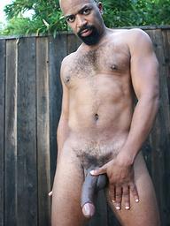 Sexy black gay Jaguar shows his big cock